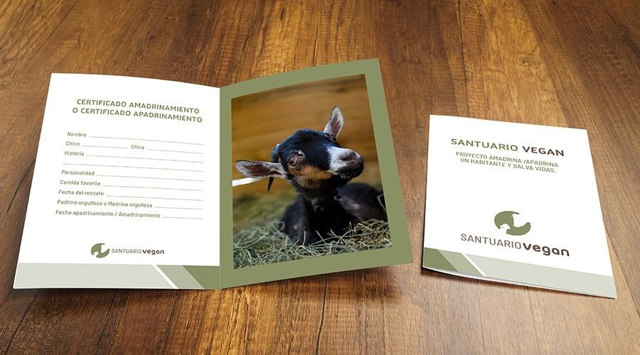 Foto de un certificado de apadrinamiento de animales